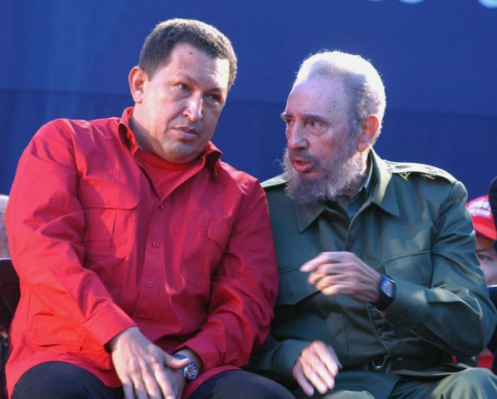 Hugo Rafael Chavez Frias y Fidel Castro Ruz