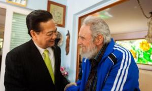 Encuentro de Fidel Castro y Nguyen Tan Dung Primer Ministro de la República Socialista de Vietnam