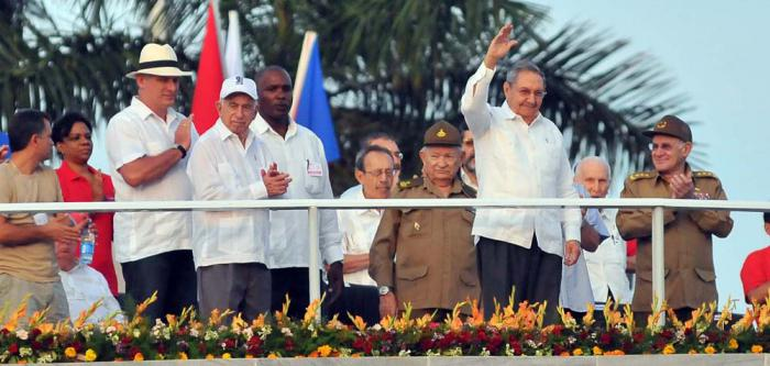 Raul Castro Presides over May Day Parade in Havana