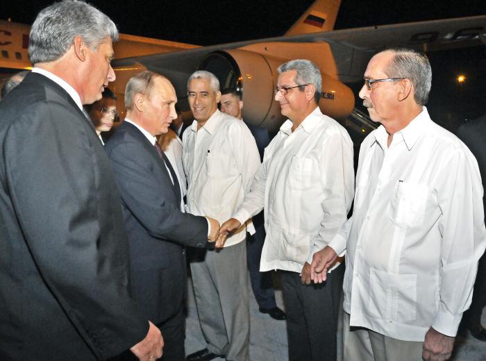 Llegó a Cuba presidente ruso Vladimir Putin