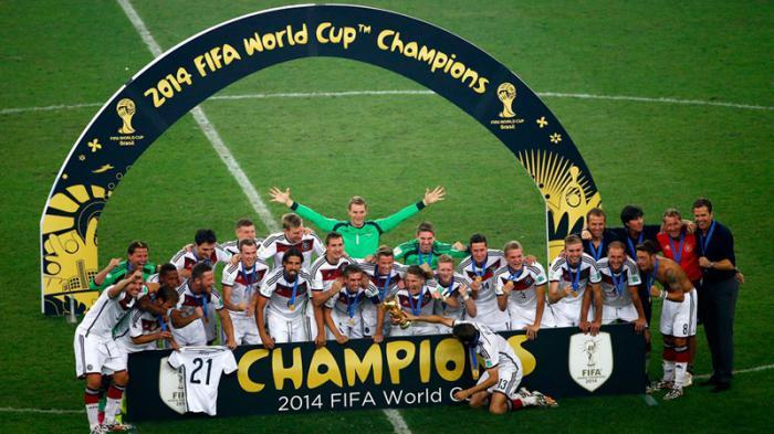 Alemania Campeon Mundial de Futbol Brasil 2014. El equipo germano sumó su cuarto título tras los de 1954, 1974 y 1990.