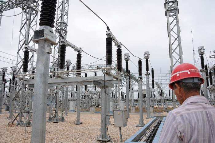 La subestación eléctrica es considerada una de las más modernas de Cuba. Foto: Vicente Brito