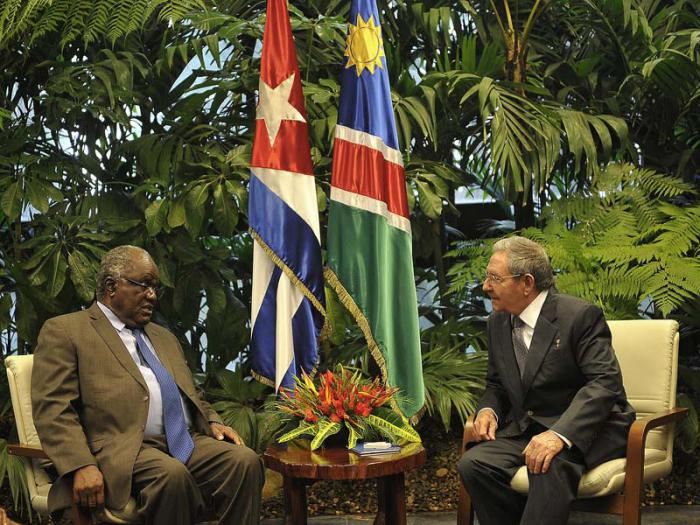 Raul Receives the President of the Republic of Namibia