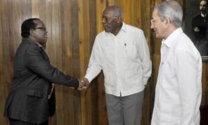 Vicepresidente cubano recibe a líder de Partido de Zimbabwe