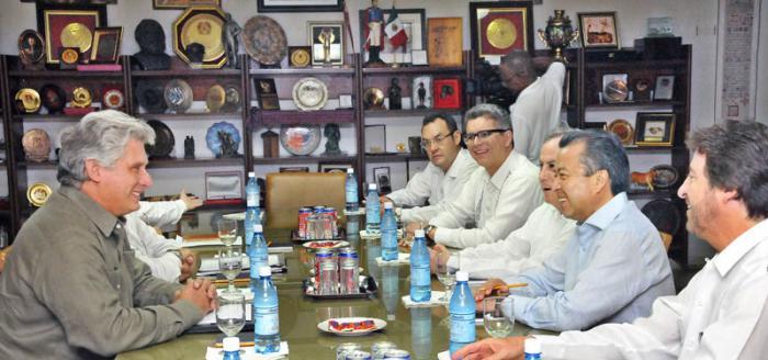 Recibió Miguel Díaz-Canel al presidente del Partido Revolucionario Institucional de México