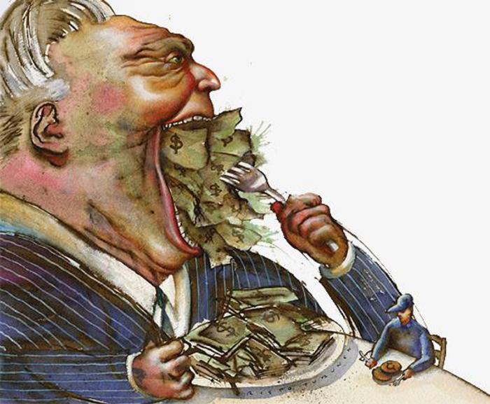 Resultado de imagen de El mundo de la opulencia y el de la pobreza