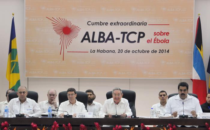 Cumbre extraordinaria del ALBA sobre el ébola desarrollada en La Habana, Cuba