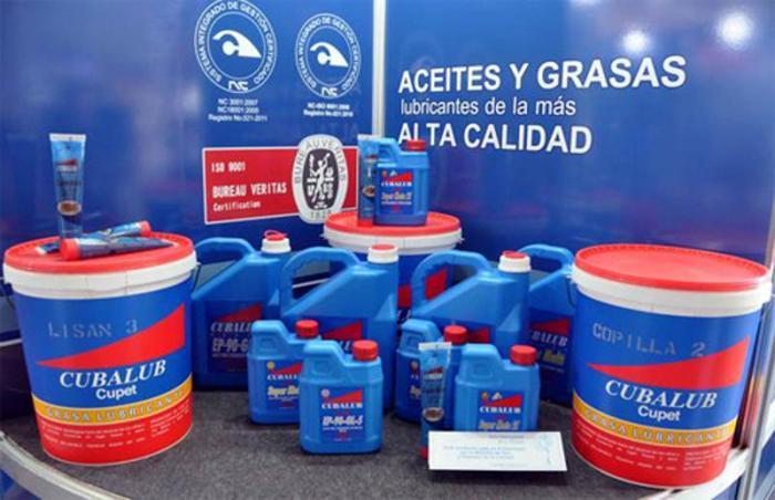 Exhibe  FIHAV familia de lubricantes cubanos