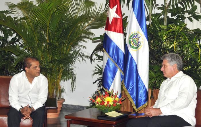 Recibe Díaz-Canel a Vicepresidente de la República de El Salvador