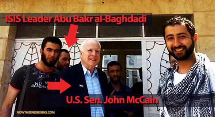 John McCain se reunió con el estado mayor del Ejército Sirio Libre. Durante el encuentro conversó con el autoproclamado califa Ibrahim Abu Bakr al-Baghdadi, del EI.