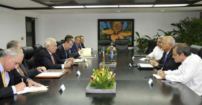Ricardo Cabrisas Meets with Spanish FM