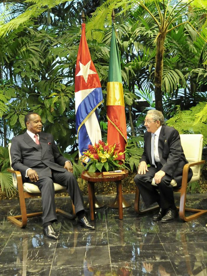 Raul Meets with the President of the Republic of Congo