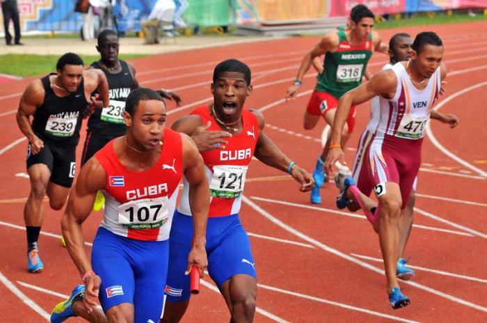 XXII Juegos Centroamericanos y del Caribe-Atletismo-Atletismo 4 x 100 Moro.