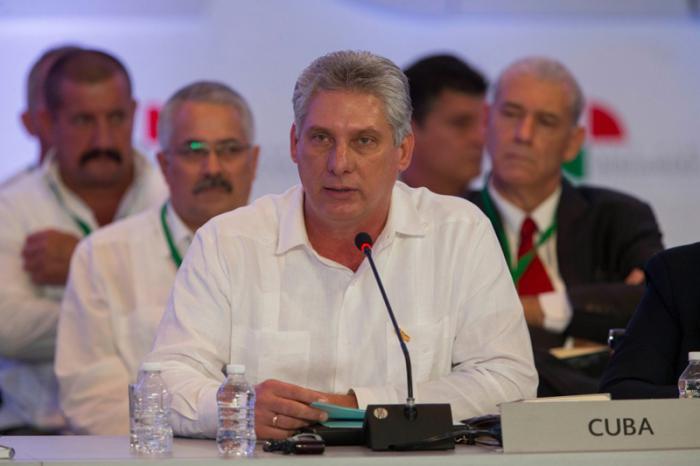 Intervención delprimer vicepresidente cubano, Miguel Díaz-Canel en la XXIV Cumbre Iberoamericana, foto Presidencia de México.