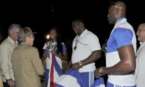 Presidente cubano da la bienvenida a atletas participantes en Veracruz 2014