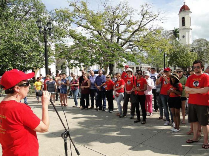 Brigada de Solidaridad Cruz del Sur de visita en Cienfuegos