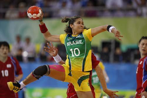 Jugadora de balonmano de Brasil. Foto: deportes.info