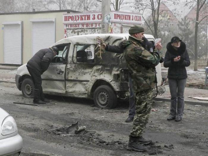 ataque en Donetsk