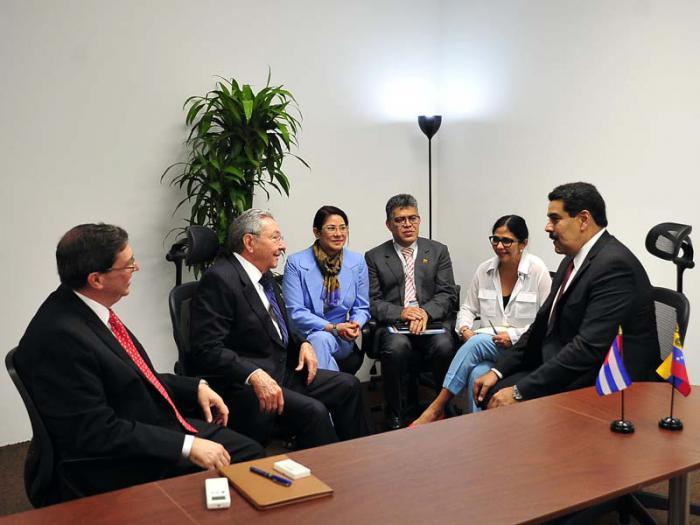Raúl sostuvo un encuentro con el mandatario venezolano Nicolás Maduro.