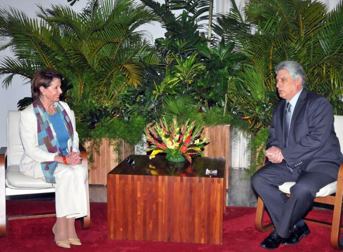 Primer Vicepresidente cubano recibe a líder demócrata de EE.UU.
