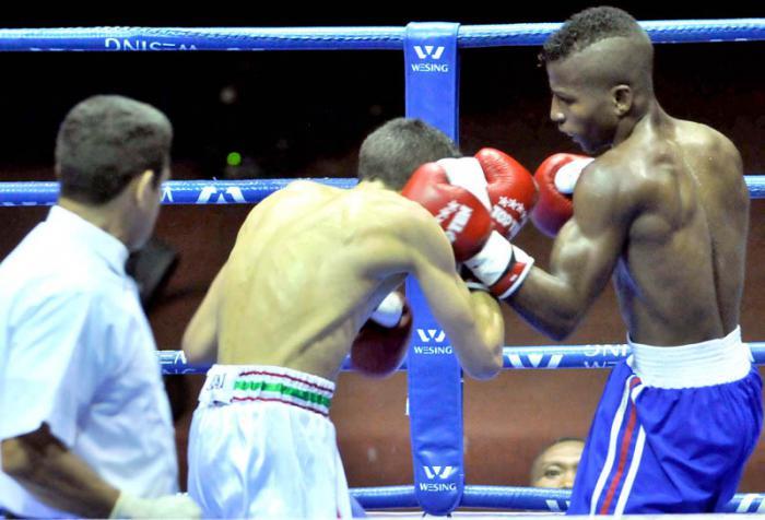 V Serie Mudial de Box Cuba vs Maruecos 49 KG  Yohanys Argilagos vs Zouhir El Bekkali