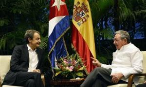 Recibió Raúl a José Luis Rodríguez Zapatero
