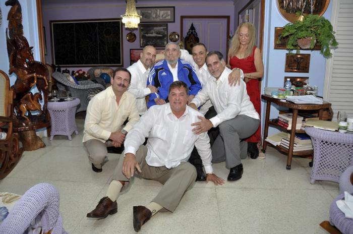 Encuentro de Fidel con los Cinco
