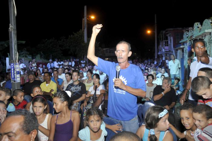 Primera Asamblea de rendición de cuenta efectuada en la circunscripción 61 Área 1 de Jaimanita. Eduardo Montufa CDR 2.