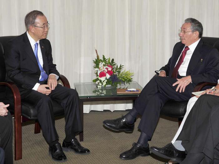 Raúl se reúne con Thomas Donohue y Ban Ki-moon
