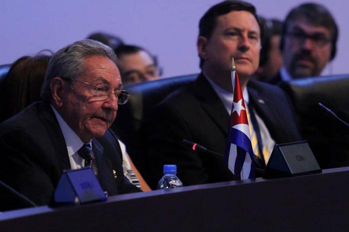 Raúl Castro -Cumbre de las Américas