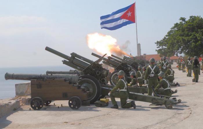 En La Habana: Salvas de artillería en saludo al triunfo de la Revolución