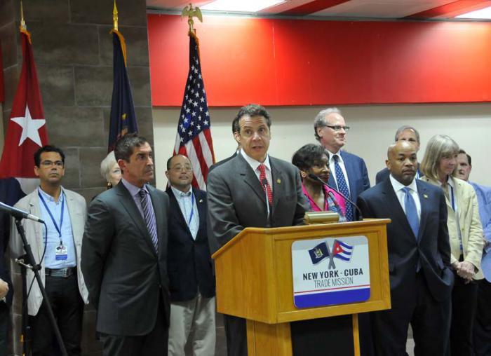 Delegación neoyorquina firma dos acuerdos y sienta precedente en Cuba