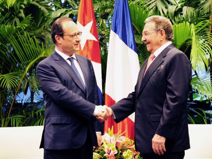 Recibió Raúl a François Hollande, Presidente de la República Francesa.