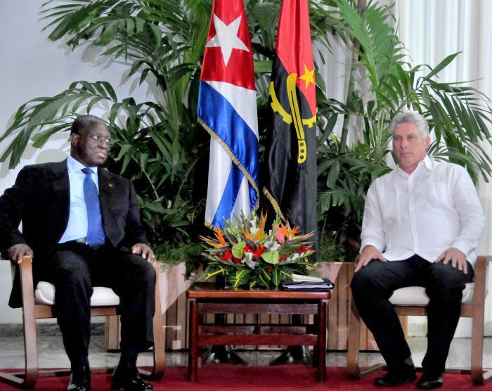 Sostienen conversaciones oficiales vicepresidentes de Angola y Cuba