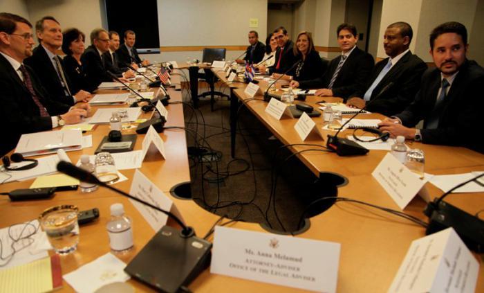 Las delegaciones de Cuba y Estados Unidos se reunieron en el Departamento de Estado de Washington