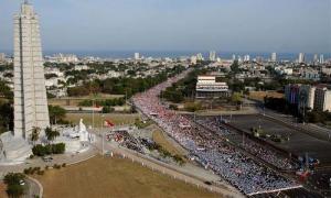 Primero de Mayo-La Plaza de la Revolución José Martí de La Habana ha sido testigo de impresionantes marchas revolucionarias.