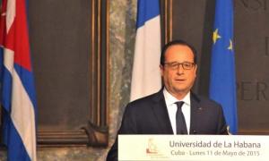 Presidente de Francia aboga por fin del bloqueo de EE.UU. contra Cuba
