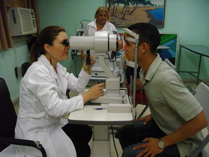Servicio de oftalmología en el Hospital Ernesto Che Guevara, de Las Tunas