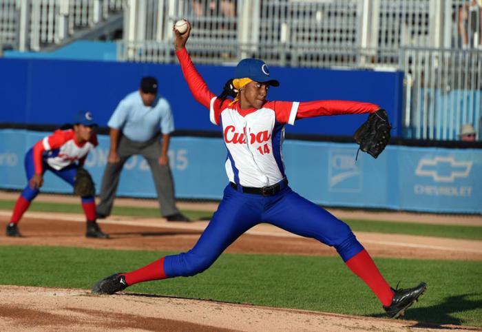 Beisbol femenino por primera vez en la hisroria en los juegos panamericanos cuba vs canada