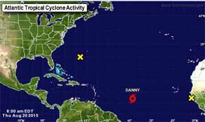 Danny se convierte hoy en el primer huracán de la temporada 2015 en el Atlántico