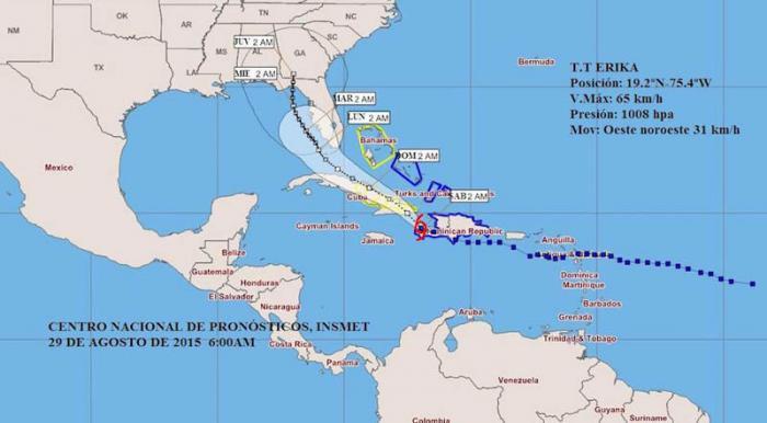 Erika se debilitó y ahora es una Onda Tropical