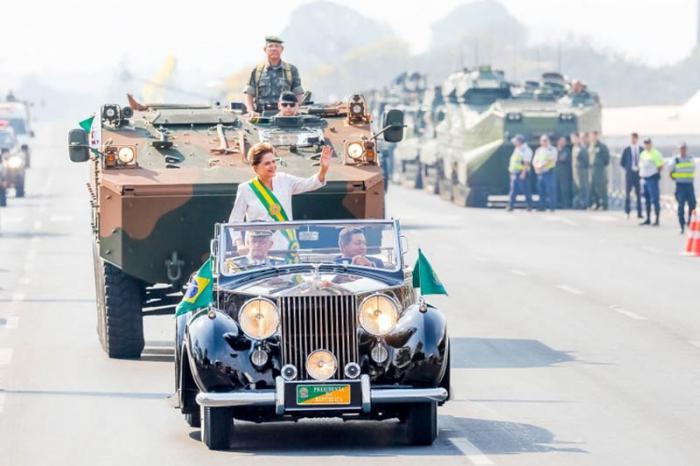 El desfile se realizó en la Explanada de los Ministerios