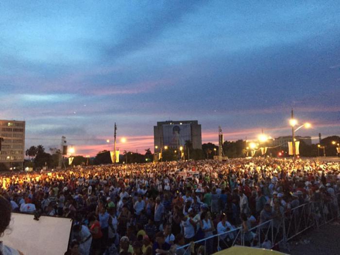 Hoy, tercera misa papal en Plaza de la Revolución de la capital cubana