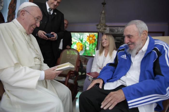 Papa Francisco y Fidel Castro