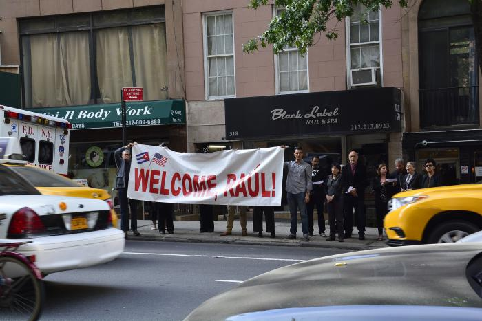 Solidaridad con Cuba en Nueva York