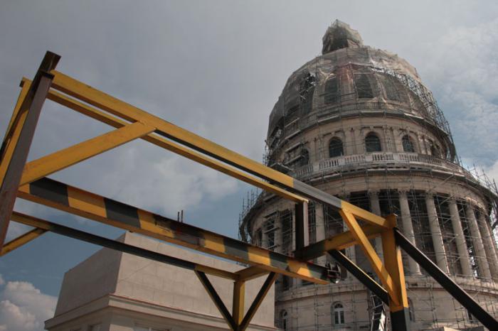 Restauración capital del Capitolio de la Habana.
