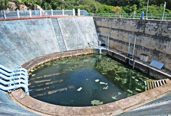 Recorrido por zonas del acueducto de Albear en Palatino, Taza grande de vento
