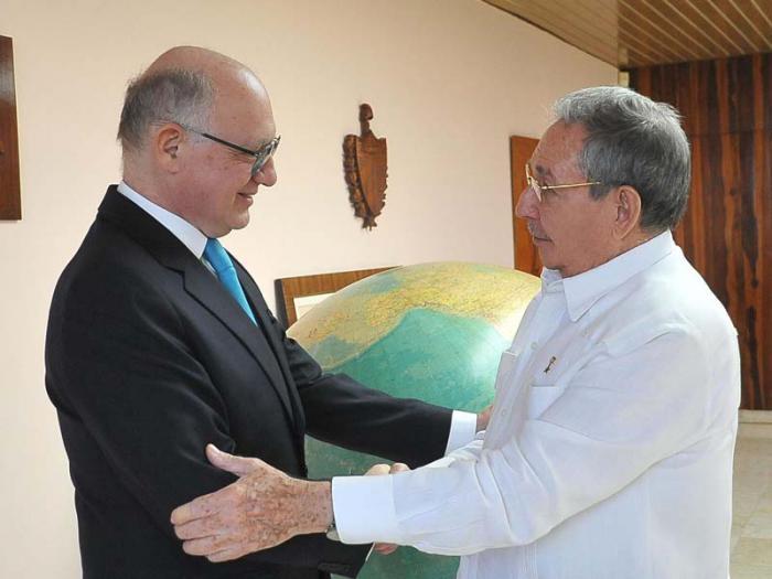 Recibió Raúl Castro al Canciller de Argentina