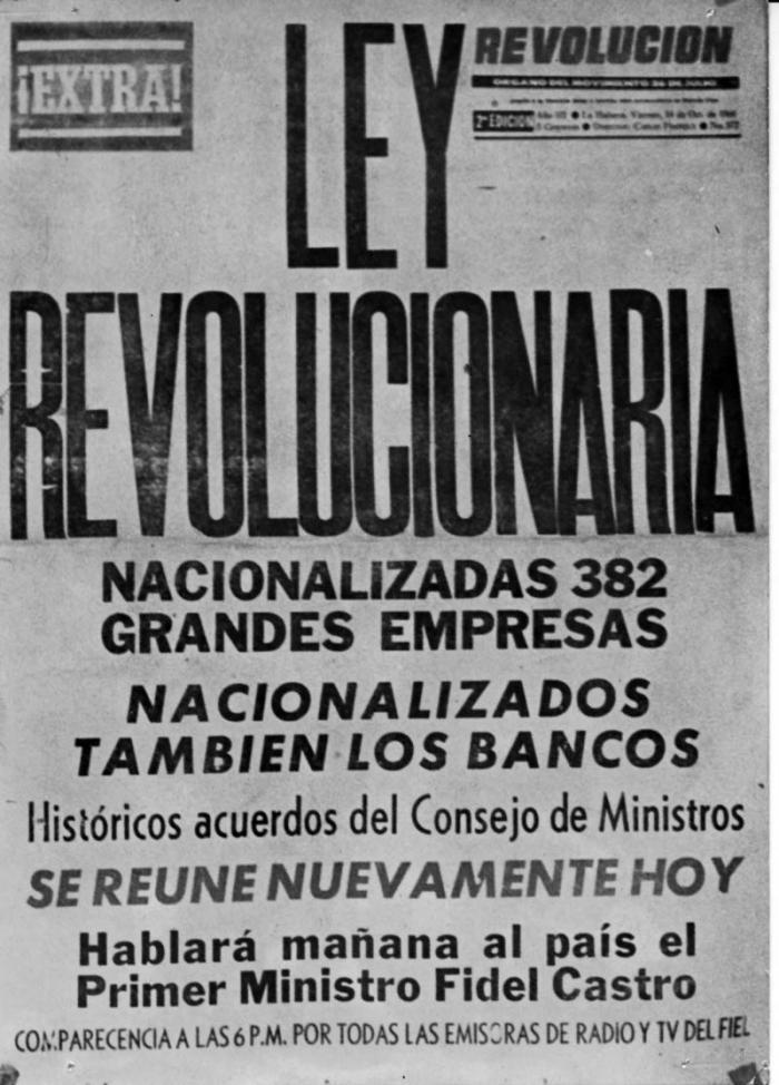 Nacionalizaciones, un paso necesario hacia el socialismo