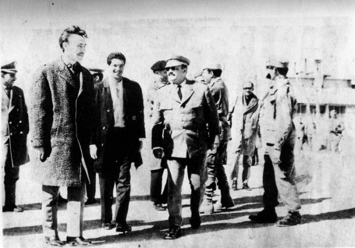 Hoari Boumedien, Jorge Serguera, Coronel Sliman Hoffman y Gabriel Molina.